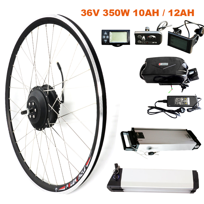 JS EBike 350W Conversion Kit with 36V Lithium Battery Electric Bicycle Hub Motor Ebike E bike Conversion Kit bicicleta electrica