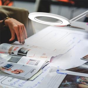 Image 5 - مصباح ليد القراءة المعادن LED سوينغ الذراع لمبة مكتب مع المشبك ستبليس يعتم ، 3 لون درجة الحرارة المهندس المعماري صياغة مصباح للدراسة