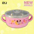 baby food containers stainless steel food container carton bear mickey minnie baby bowl with lid kids container tableware W09