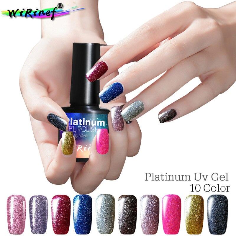 Nails Art & Werkzeuge Schönheit & Gesundheit 10 Pcs Uv Gel Polnischen Nail Art Fluoreszierend Leuchtenden Gel Lack Glänzende Pailletten Nail Art Pulver