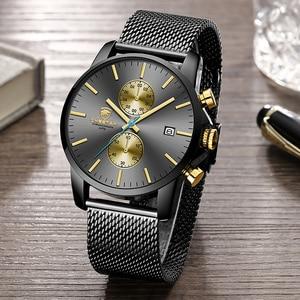 Image 3 - CHEETAH mężczyźni oglądać najlepsze luksusowe marki męskie mody zegarki kwarcowe ze stali nierdzewnej wodoodporny chronograf zegar Relogio Masculino