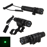 Tactical Hunting Rifle Green Laser Sight Dot Scope Adjustable W Mount Light Gun