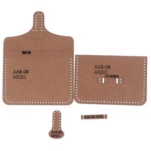1set Hard Kraft Paper Stencil Template For DIY Leather Handmade Craft Women Handbag Shoulder Bag Sewing Pattern