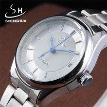 SHENHUA Brand font b Women b font Watches Calendar font b Mechanical b font Watch Stainless