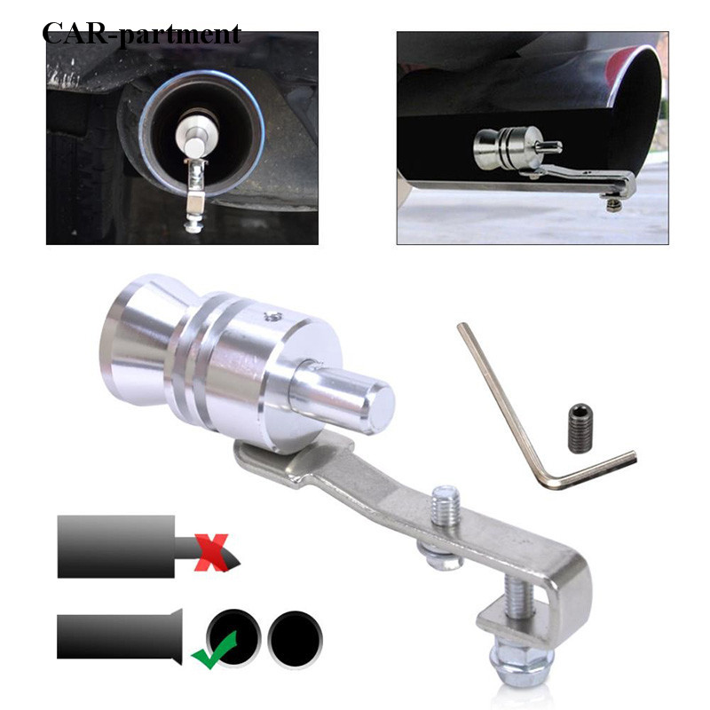 Universal Turbo Sound: Size L Universal Car Exhaust Sound Tip Turbo Sound
