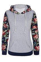 2017 New Women Clothing Hoodies Sweatshirts Cotton Hooded Coat Autumn Vintage Flower Printing Pullover Female Winter Long Sleeve
