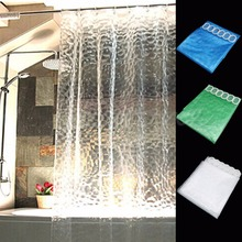 Uniquely Designed 3D Water Cube Design Shower Curtain Bathroom Waterproof 72''