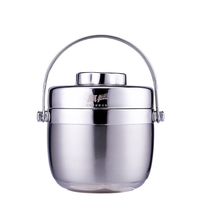 Lunch Box for Food School Drinkware Thermal Lunch Containers 1.2L 1.5L Double Layer Portable Thermos for Food with Containers
