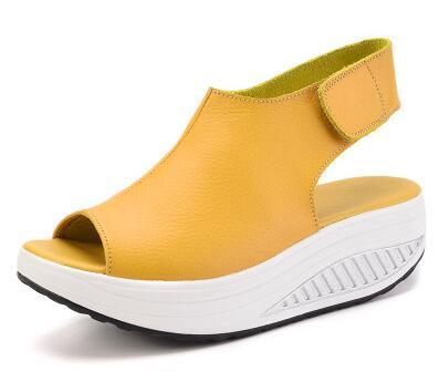 ФОТО Brand Women Shoes Summer Women Sandals Casual Peep Toe Swing Shoes Lady Platform Wedges Sandals Walk Shoes Woman Gift Socks