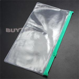 1pcs Excellent Quality Plastic Transparent Pencil Bag Stationary Cover Pouch Document Holder Business Office Stationery