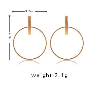 Round Circle Dangle Earrings for Women 1