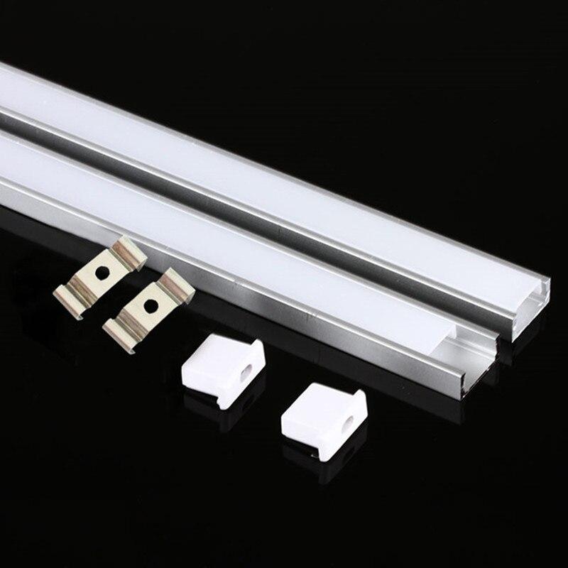 DHL 1 m LED bande en aluminium profil pour 5050 5730 LED dur bar lumière led bar en aluminium canal logement avec couvercle d'extrémité de couverture