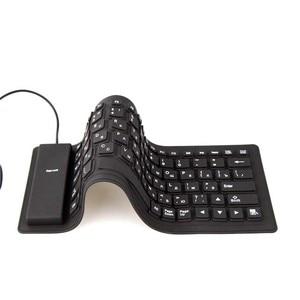 Image 4 - גמיש מים עמיד סיליקון משחקי מיני נייד USB מקלדת עבור מחשב לוח מחשב נייד מחשב חדש חם