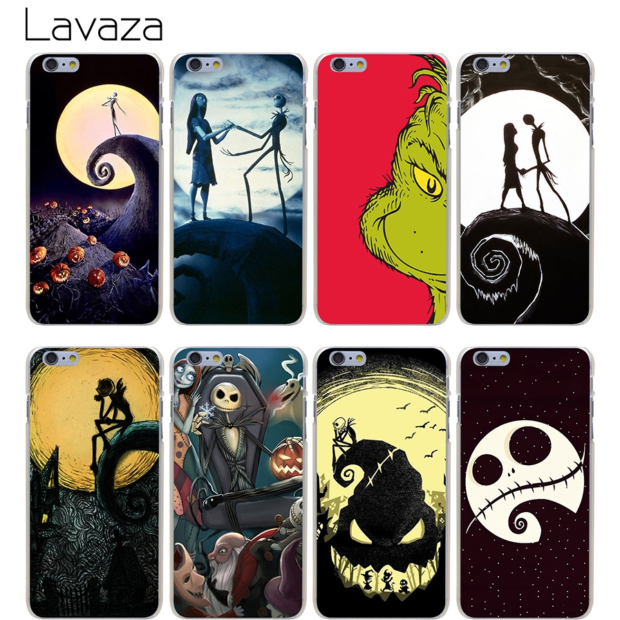 Lavaza Phone Cases The Nightmare Before Christmas Hard Transparent Cover Case for iPhone X 10 8 7 6 6S Plus 5 5S SE 5C 4 4S