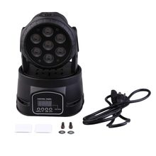 DMX-512 Mini Moving Head Light RGBW LED Stage PAR Light Lighting Strobe Professional 9/14 Channels Party Disco Show(China)