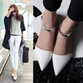 New women Shining leather flats casual shoes zapatos mujer work office shopping walking  fashion party shoes