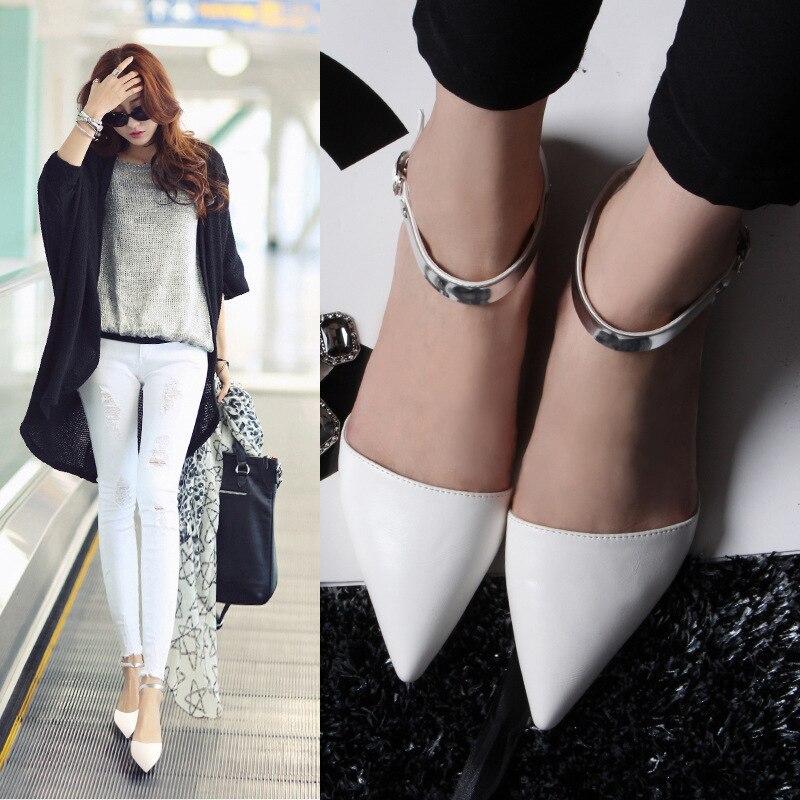 Nuevas mujeres Brillantes pisos de cuero zapatos casuales zapatos de mujer de tr