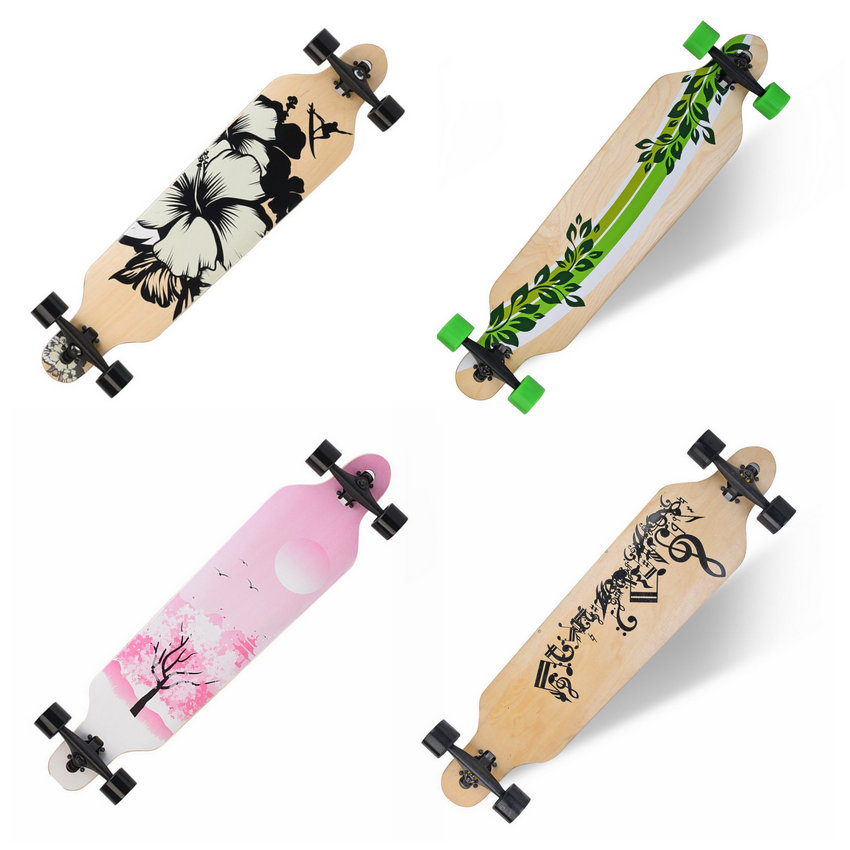 Professional Maple Complete Skateboard Longboard Adult Road Street Dancing Downhill Drift Skate Board  maple wood four wheel professional wooden skateboards longboard drift skateboard abec 11 chrome steel bearings longboard 3 color