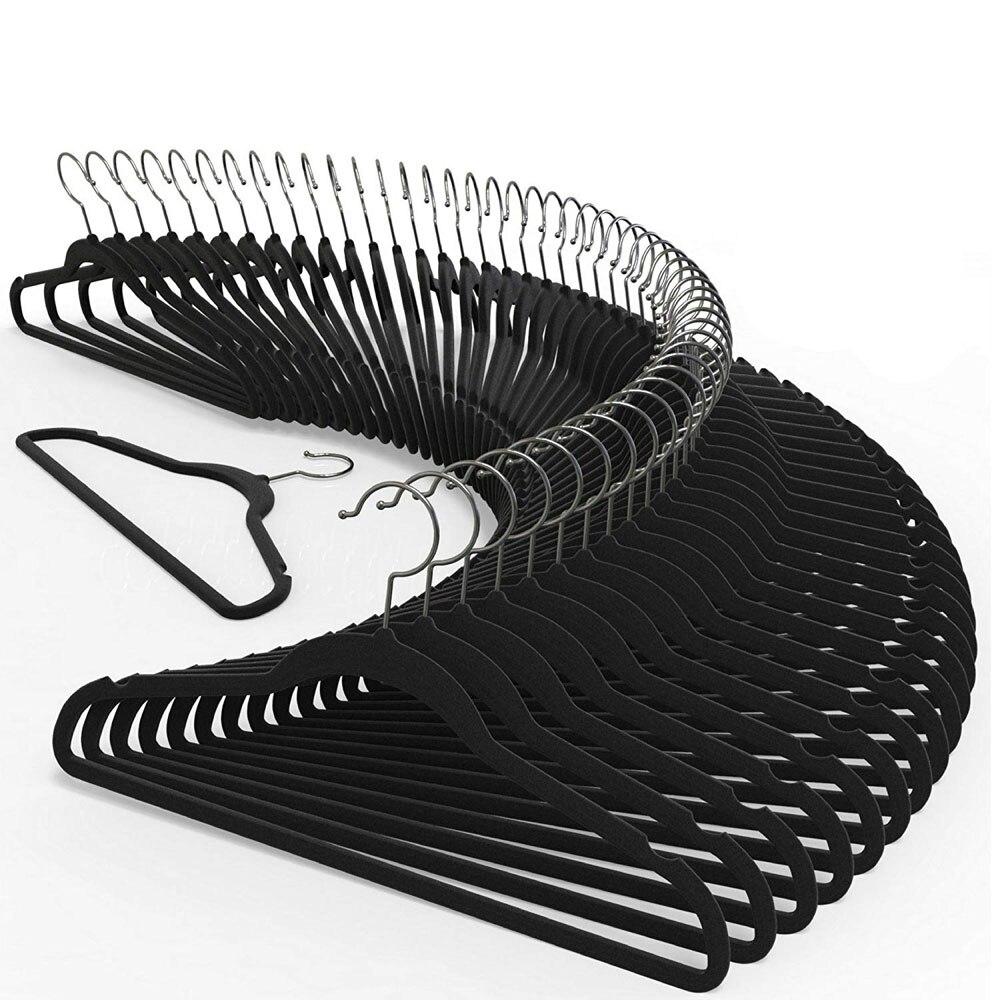 Premium Quality Velvet Hanger  Ultra Thin No Slip Velvet Suit Hangers Swivel Hooks Stronger Than Standard Velvet Hangers