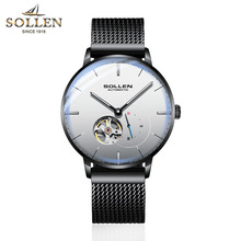 SOLLEN Mens Watches Top Brand Luxury Automatic Mechanical Watch Casual Steel Sapphire Waterproof Wristwatch Relogio Masculino цена и фото