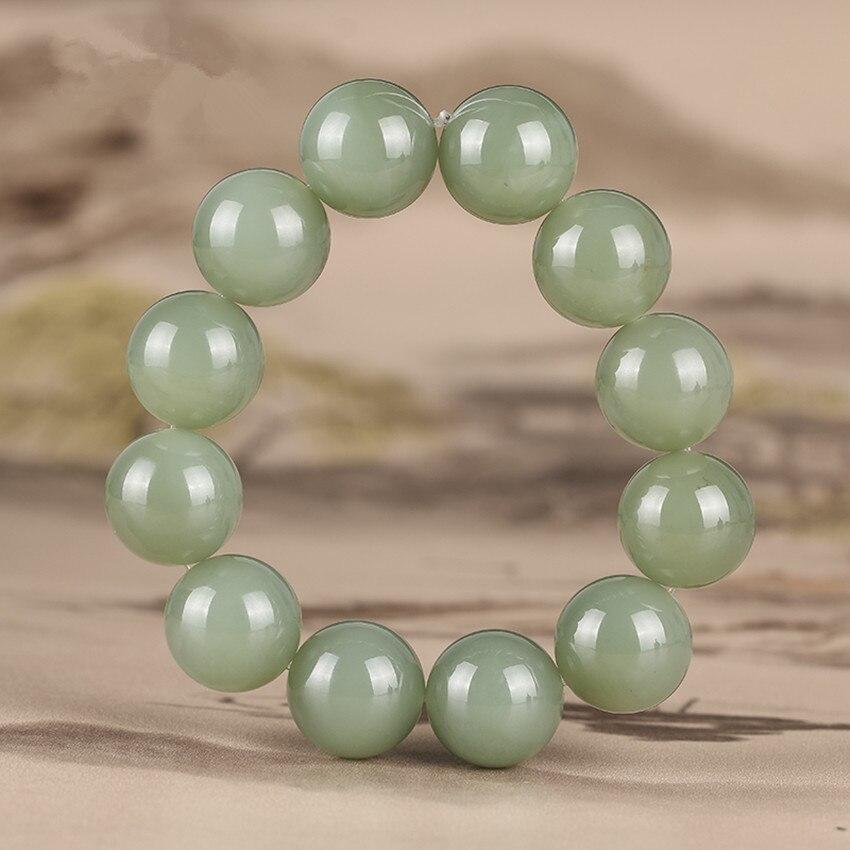 Xinjiang hetian stone oil blue bracelet men and women bracelet gifts./1