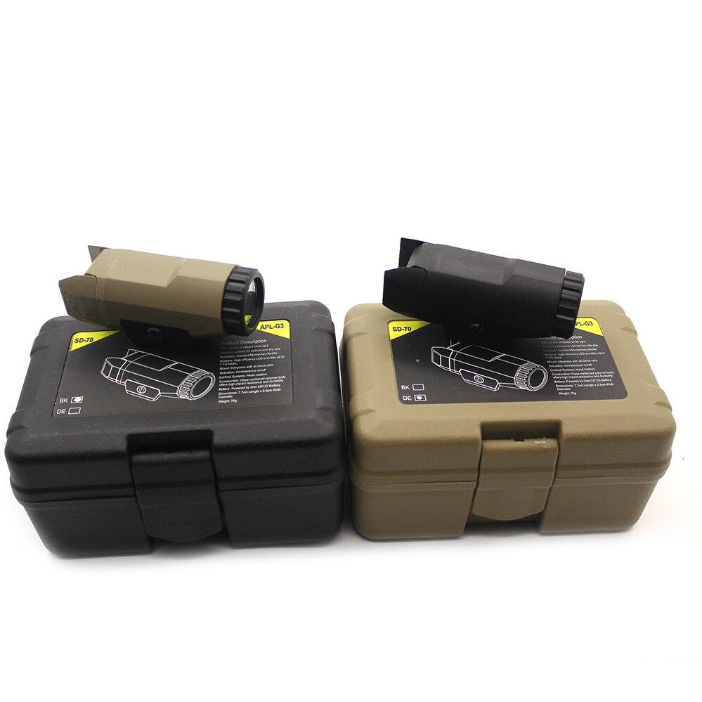 Для Glock полноразмерный пистолет светильник 400 люменов тактический Hunting APL G3 2019 компактный оружейный белый светильник