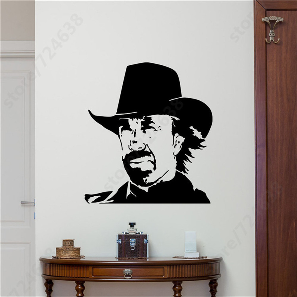 compare prices on cowboys wall murals online shopping buy low texas cowboys wall mural chuck norris waterproof art wall sticker home bedroom special decal high qulity