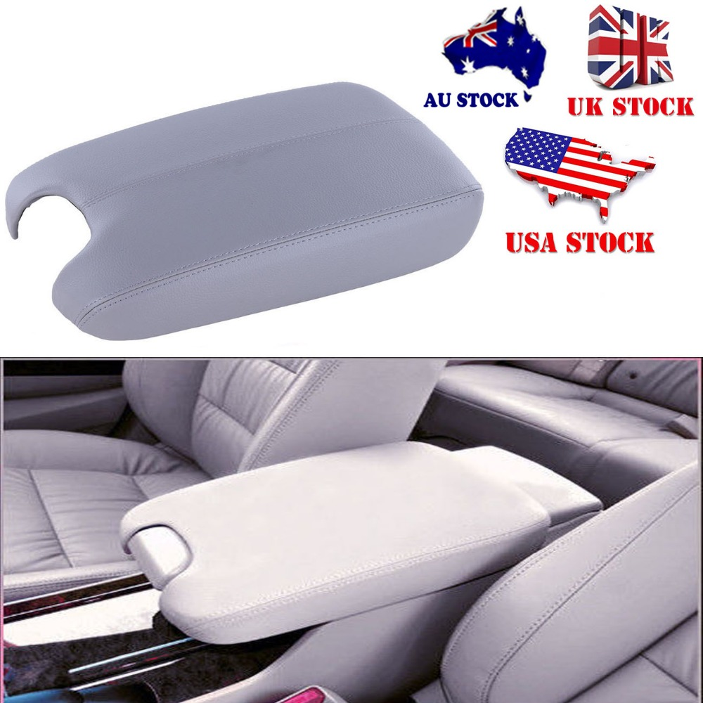Car grey leather center console lid storage armrest box cover arm rest for honda accord 2008