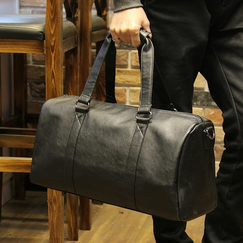 534ea829a286 New Arrival Oil Wax Leather Handbags For Men Large Capacity Portable  Shoulder Bags Men s Travel Bags Travel Package-in Travel Bags from Luggage    Bags on ...