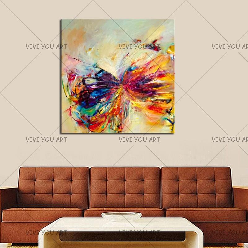 Pintura al óleo sobre lienzo arte de la pared decorativa abstracta - Decoración del hogar - foto 4