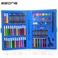 EZONE 86 SZTUK w 1 dzieci 12 Kolory Marker Pakiet Zestaw Dzieci Malowanie Pastel Ołówek Pigmentu Dla Sztuki Rysunek Dostaw prezenty Biurowe