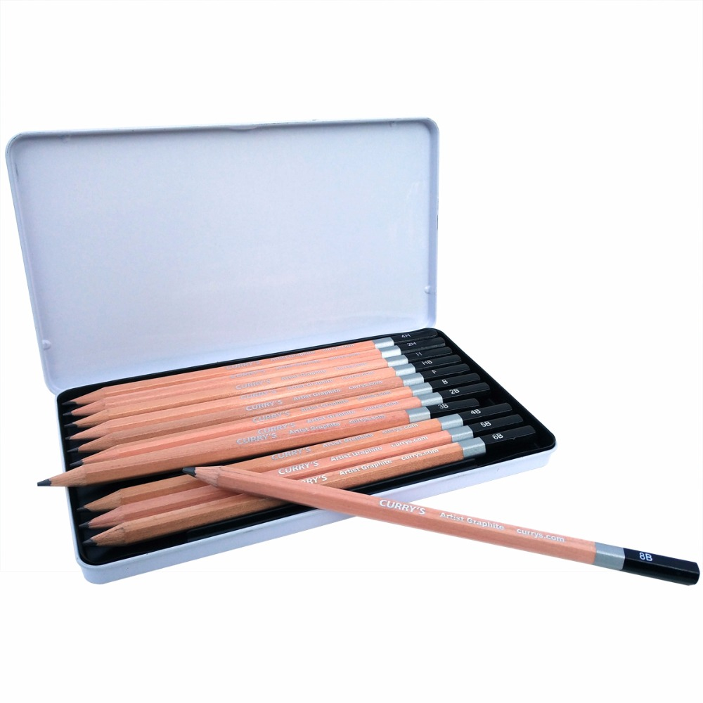 Best quality 18 sketch drawing art pencil lapiz graphite 8b 6b 4b 2b f hb h 2h artist charcoal pencils for art school supplies in standard pencils from
