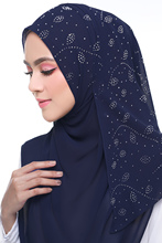 Bubble Chiffon Scarf Leaf Diamond Crystal Scarf Hijab 20 COLORS