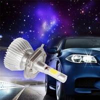 2Pcs Super Bright C6 H4 60W Car LED Headlights Automotive Front Bulbs Car Headlamp 6000Lm Fog
