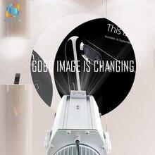 LDLG nueva llegada 2019 Gobo proyector al aire libre 8 imágenes rotativas luz Led impermeable para la animación para tiendas Marketing y publicidad