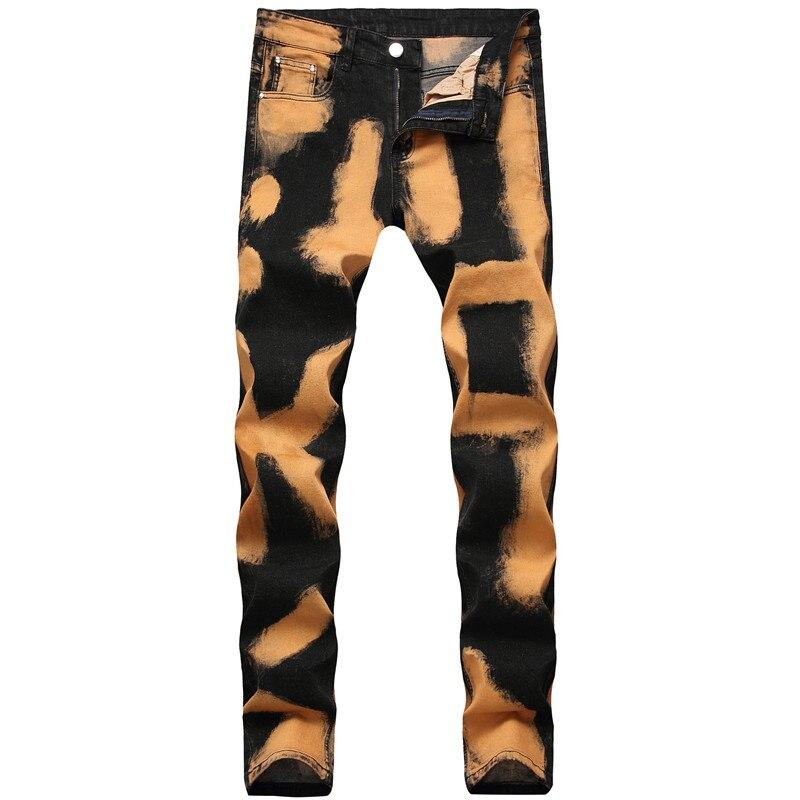 MORUANCLE Men's Vintage Jeans Pants Slim Fit Stretch Denim Trousers For Male Washed Streetwear Jean Joggers Plus Size 28-42