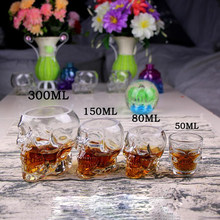 50/80/150/3000ml New Arrival Creative Cup Crystal Skull Vodka Wine Bottle Beer Pirates Glass(China)