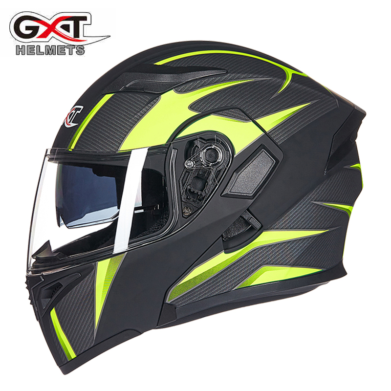 Genuine GXT Motorcycle Flip up Helmets Dual Lens headguard Motorbike Scooter Men s Moto Racing Liner