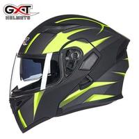 Genuine GXT Motorcycle Flip up Helmets Dual Lens headguard Motorbike Scooter Men's Moto Racing Liner remove Helmet|Helmets|Automobiles & Motorcycles -