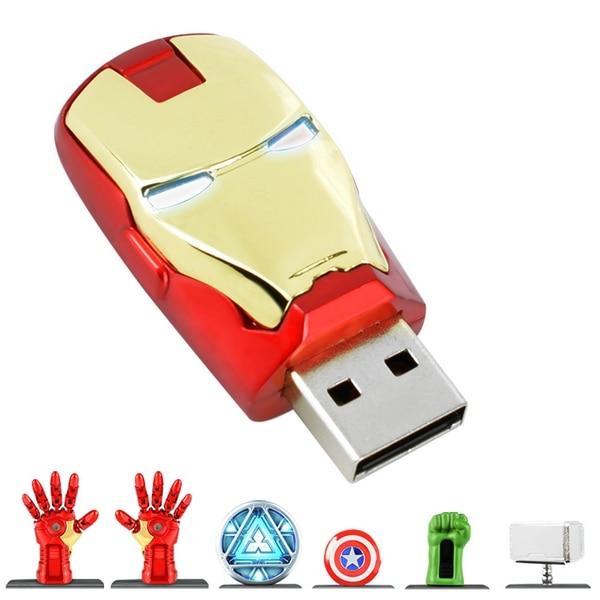 Iron Man Usb 2.0 Flash Drive 128 GB 512 GB Captain America Flash Disk Pen Drive 32 GB 64 GB Pendrive 1TB 2TB Geheugenkaart Sticksleutel