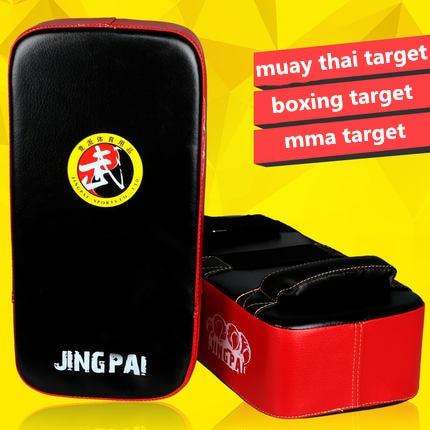 MMA Muay Thai Target TKD punching curve pads PU leather Sanda Taekwondo Kick boxing Foot Target Boxing Hand Feet Square Target