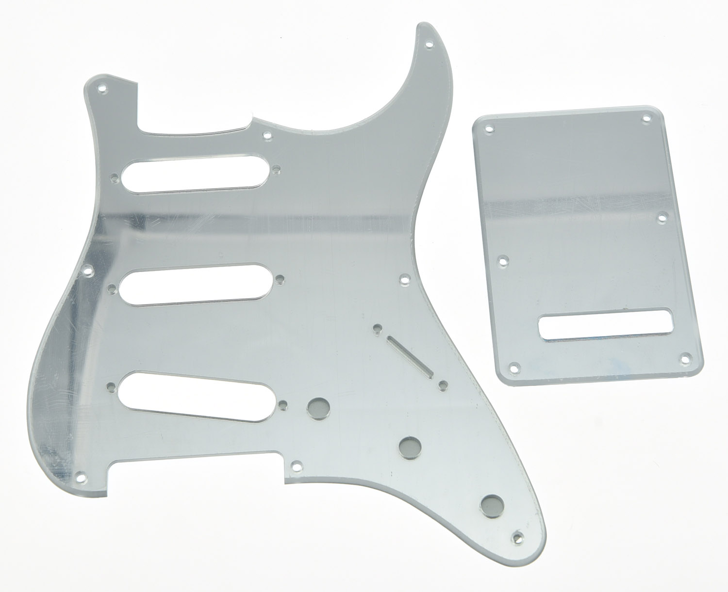 KAISH Silver Mirror Vintage ST 8 Hole Guitar Pickguard Back Plate Set for USA ST silver mirror hss st strat style guitar pickguard scratch set mirror pickguard mirror back plate chrome pickguard screws hot