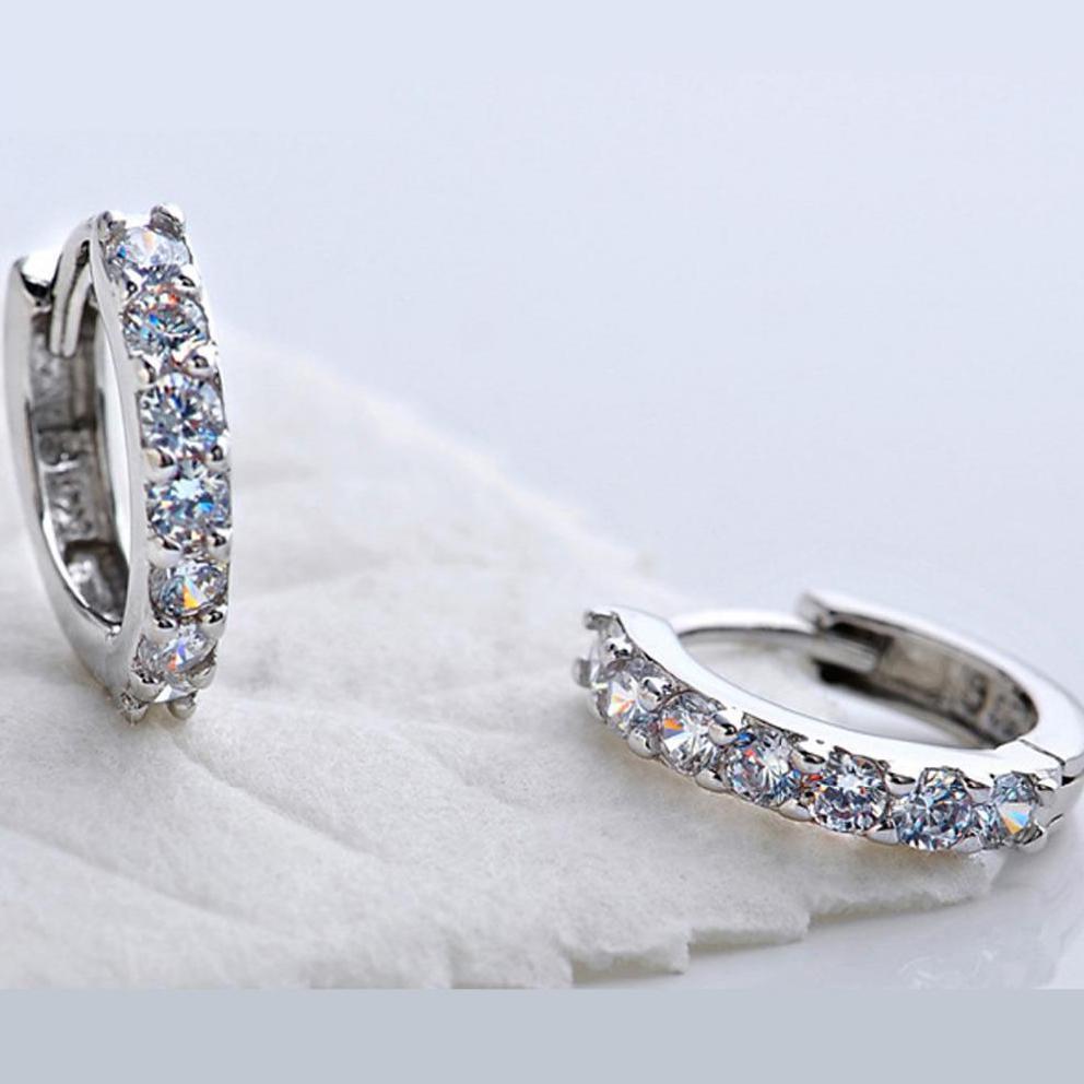 Sterling-argint-bijuterii pendientes mujer cercei 925 brincos plata - Bijuterii de moda