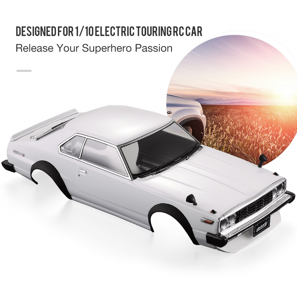 48701 1977 RC Car Body Shell Skyline Hardtop 2000 GT ES Finished Case Frame for 1