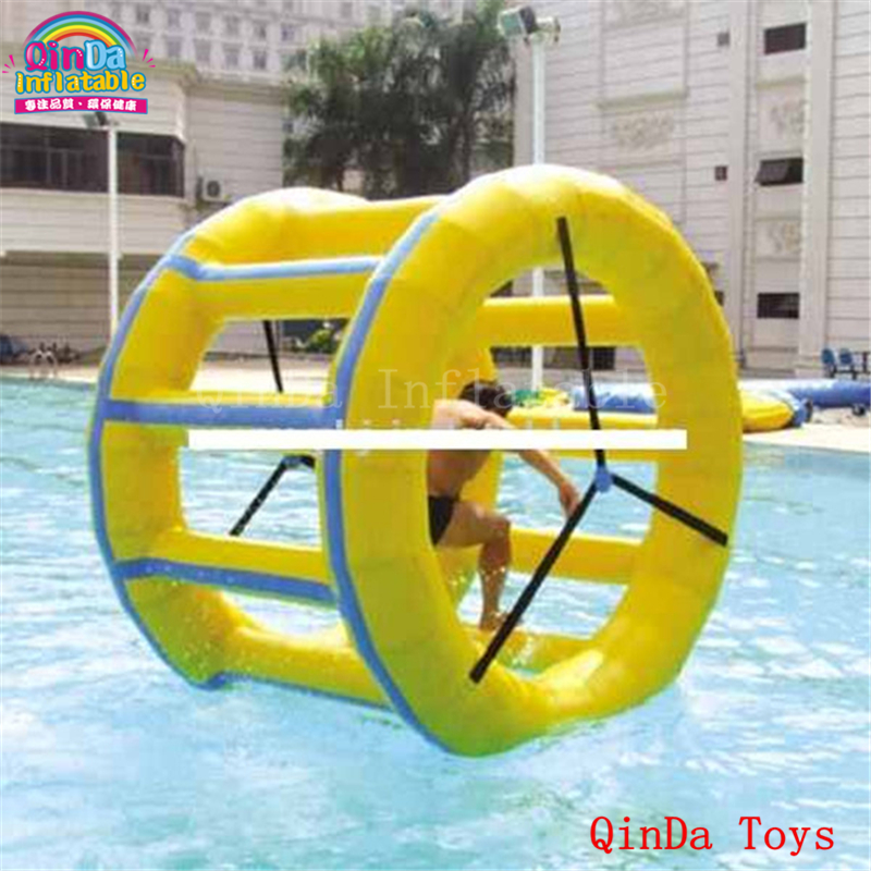 Commercial grade hamster roller wheel with free air pump, 2m diameter inflatable water treadmill for adults 6162 63 1015 sa6d170e 6d170 engine water pump for komatsu