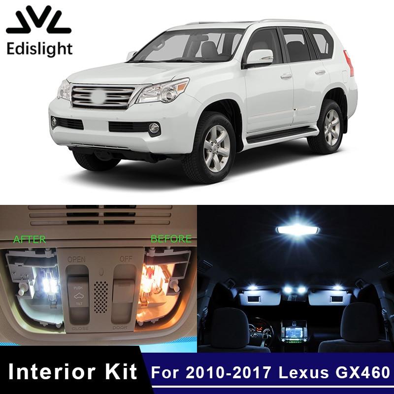 Edislight 16Pcs White Ice Blue Canbus LED Lamp Car Bulb Interior Package Kit For 2010-2017 Lexus GX460 Map Dome Trunk Door Light