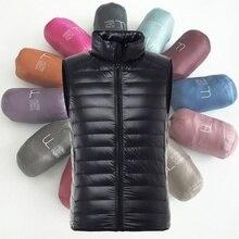 ZOGAA новый зимний ультра легкий утиный пух жилет мужской хлопковый жилет тонкий короткий хлопок без рукавов жилет куртка пальто S-3XL