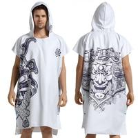 Bathing Bathrobe /Surf Bath Towel/ Quick drying Hooded Robes Pool Towel Beach Towel Sports Towel Superfine fiber Printing