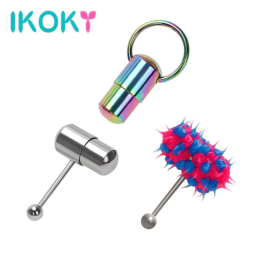 IKOKY Tongue Stud Vibrator Hammer Shape Oral Sex Machine