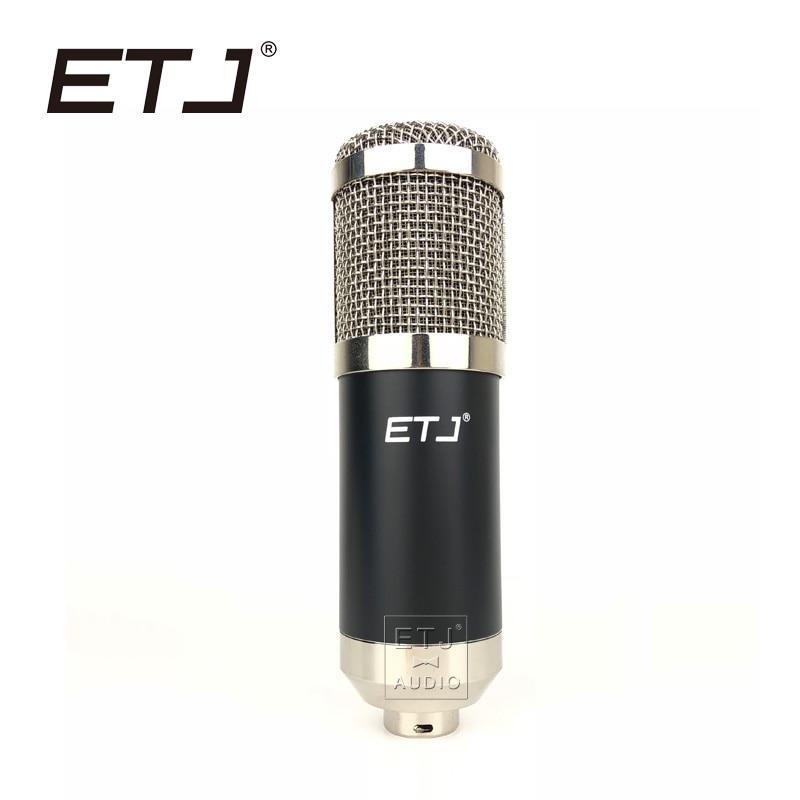 ETJ Brand Professional Condenser Microphone Karaoke Studio Recording Metal Microphone Free Shipping 800B стоимость